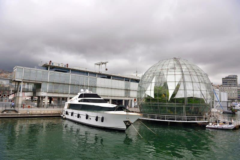 La biosfera de la burbuja de Renzo Piano Genoa Italy fotos de archivo