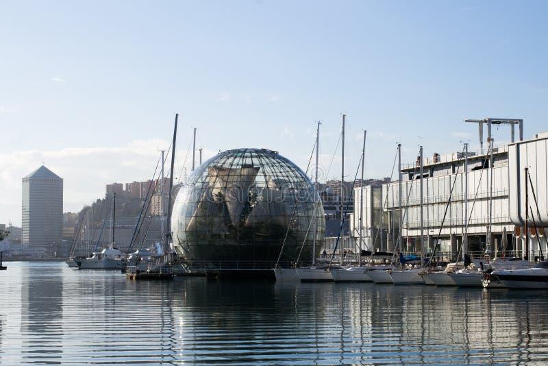 La biosfera en la ciudad de Génova, Italia fotos de archivo