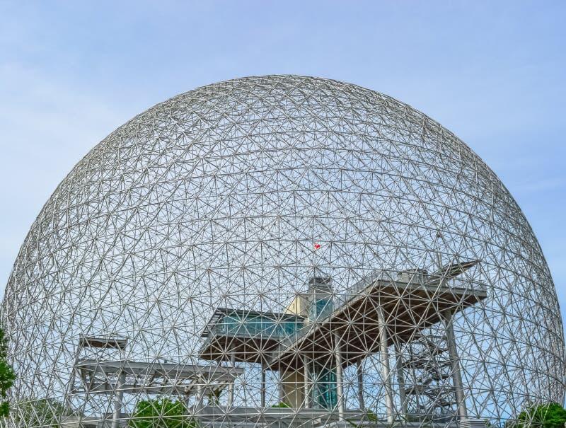 La biosfera es un museo en Montreal dedicó al ambiente imagen de archivo libre de regalías