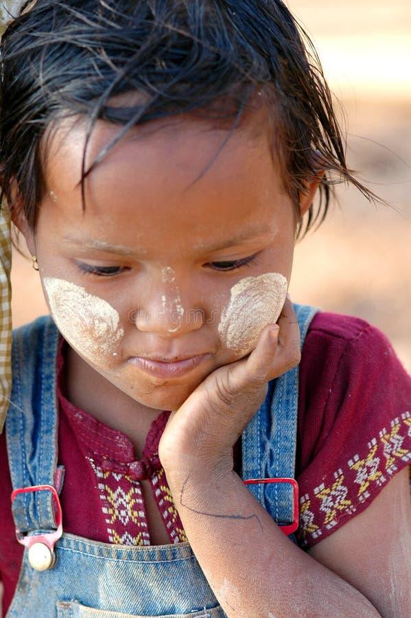La Birmania - ragazza fotografia stock
