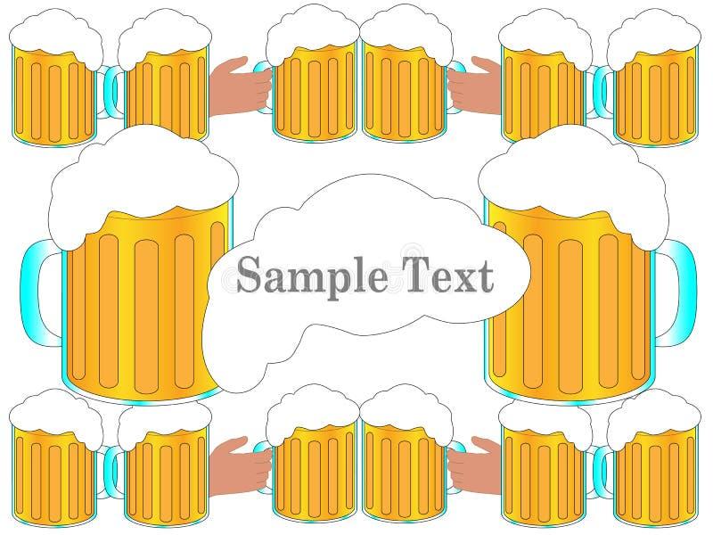 La birra incoraggia il fondo per la congratulazione immagini stock