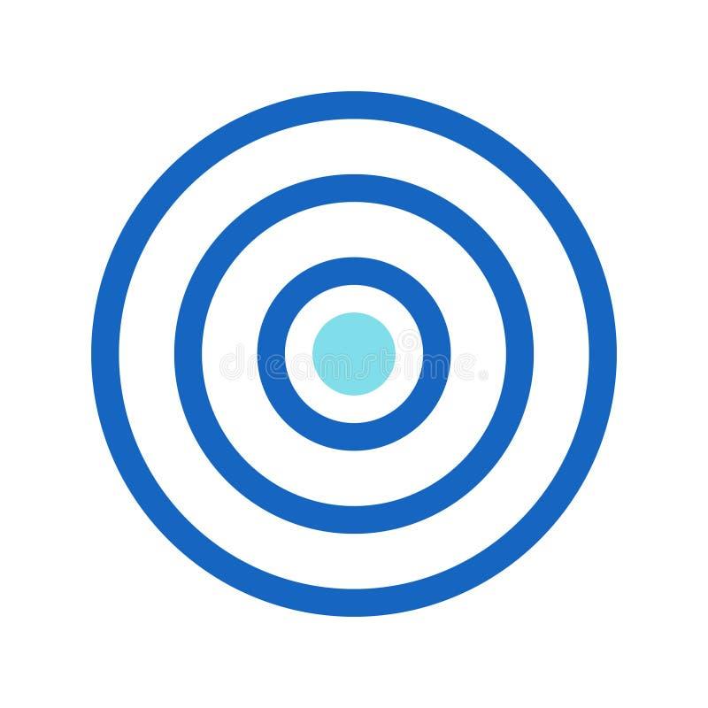 La blanco del negocio, meta de negocio llenó la línea color azul del icono stock de ilustración