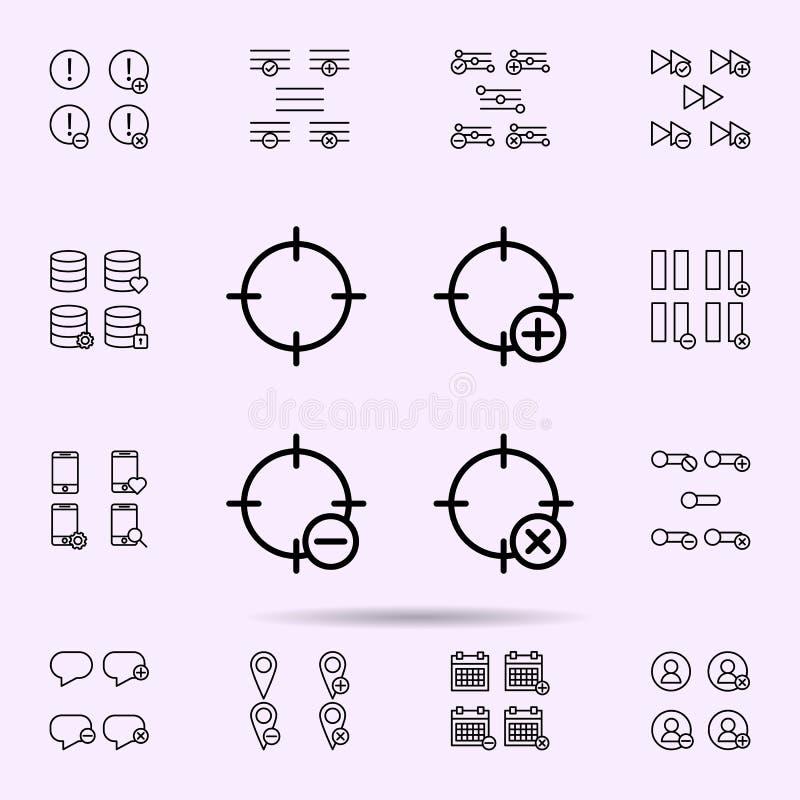 la blanco, m?s, quita, icono del signo de menos sistema universal de los iconos del web para el web y el m?vil libre illustration