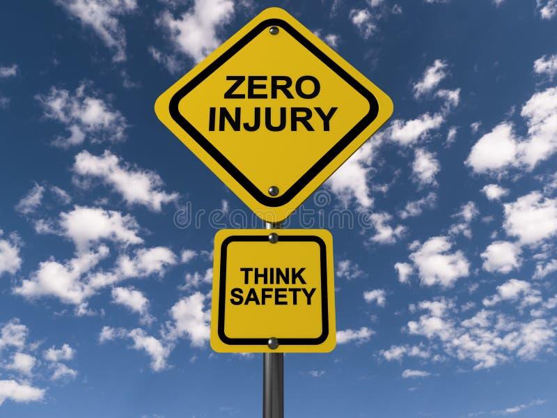 La blessure zéro pensent la sécurité illustration libre de droits