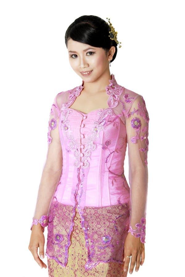 La blusa del Javanese llamó kebaya imagen de archivo