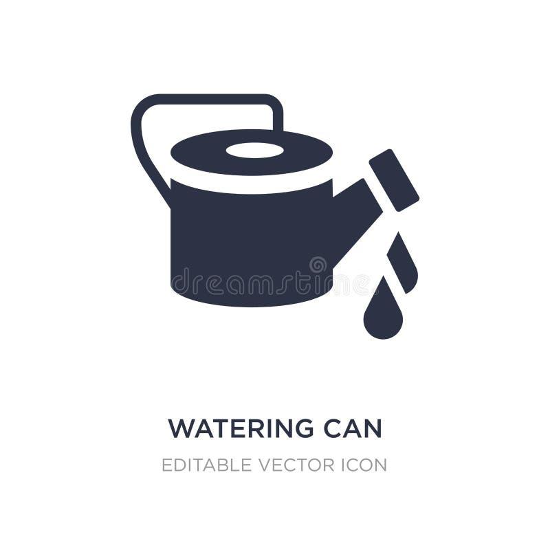 la boîte d'arrosage avec de l'eau laisse tomber l'icône sur le fond blanc Illustration simple d'élément de notion générale illustration stock