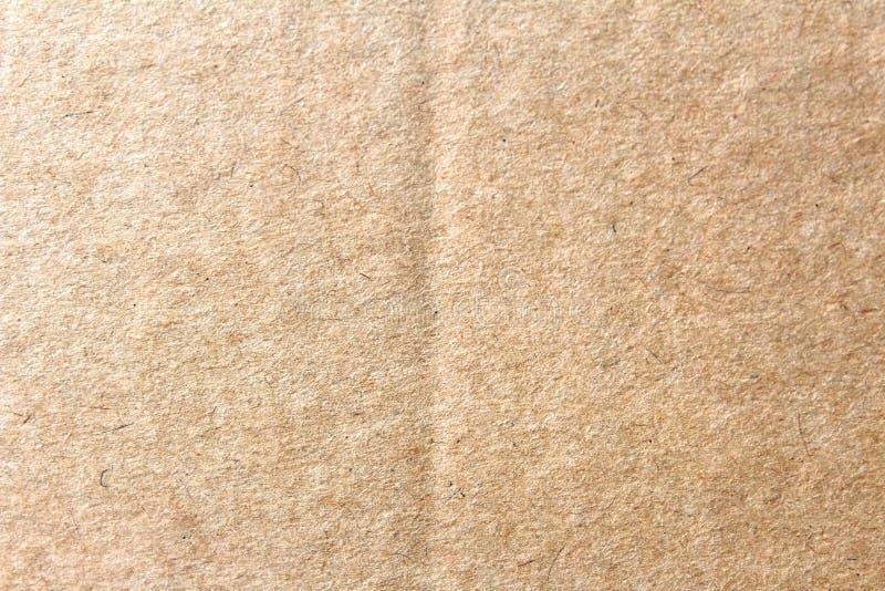 La boîte de papier brune, fond abstrait de carton image libre de droits
