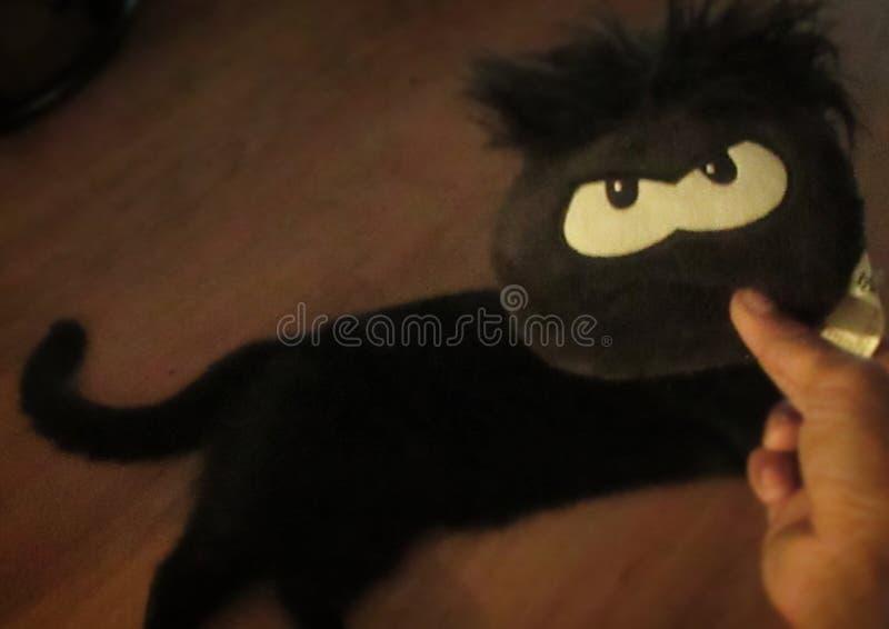 La BO aucune balance le chat de Halloween images libres de droits