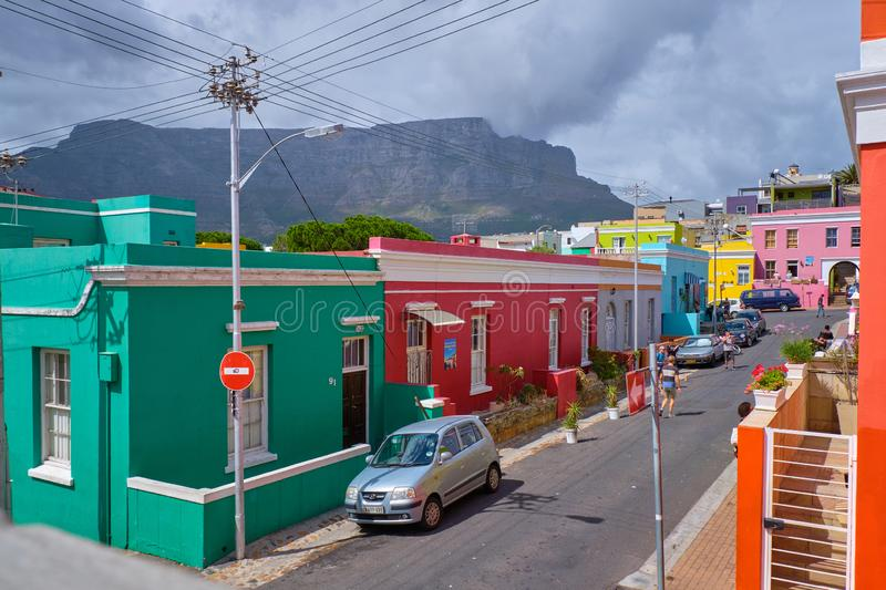 La BO Kaap, Capetown photo stock