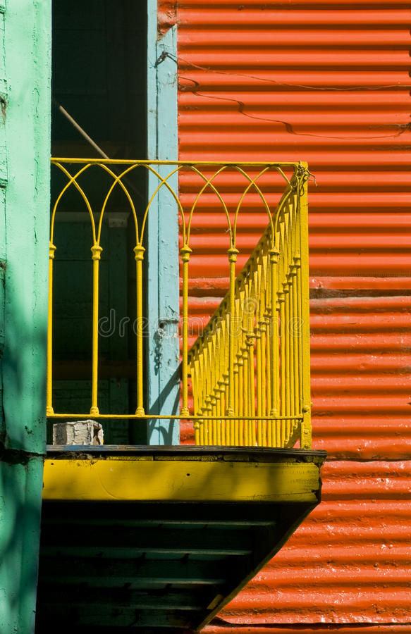 La Boca. Colorful detail in the neighbourhoud of La Boca, Bueonos Aires, Argentina stock photo