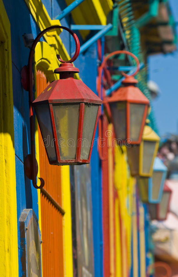 La Boca. Colorful detail in the neighbourhoud of La Boca, Bueonos Aires, Argentina stock images
