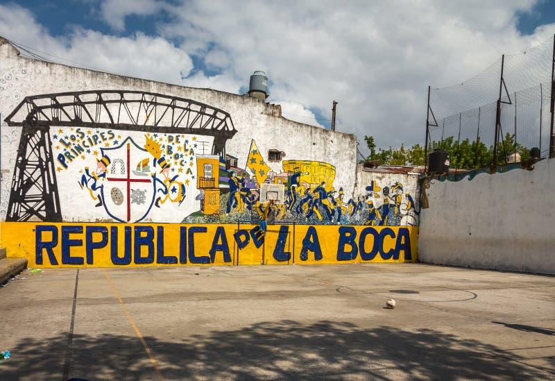 La Boca. Bairro La Boca, Buenos Aires, Argentina royalty free stock images