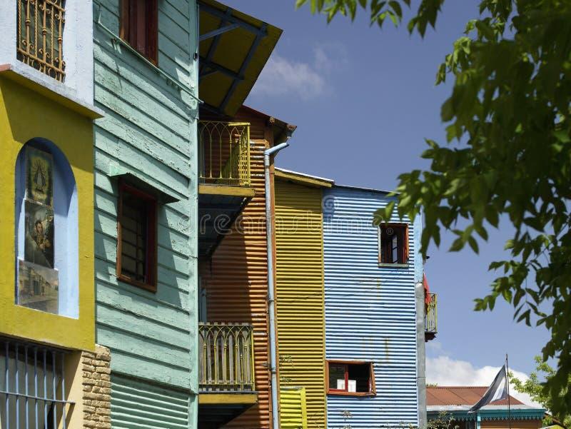 La Boca Bezirk von Buenos Aires - Argentinien stockbilder