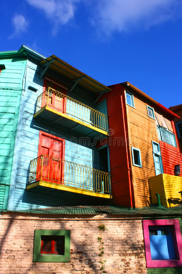 La Boca, Buenos Aires. Historical buildings in the famous Neighborhood of La Boca in Buenos Aires, Argentina royalty free stock photos