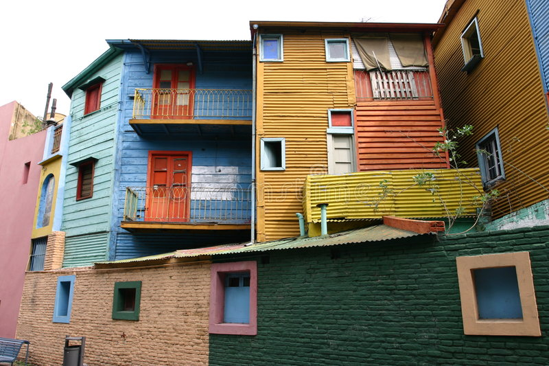 La boca in Buenos Aires stock images