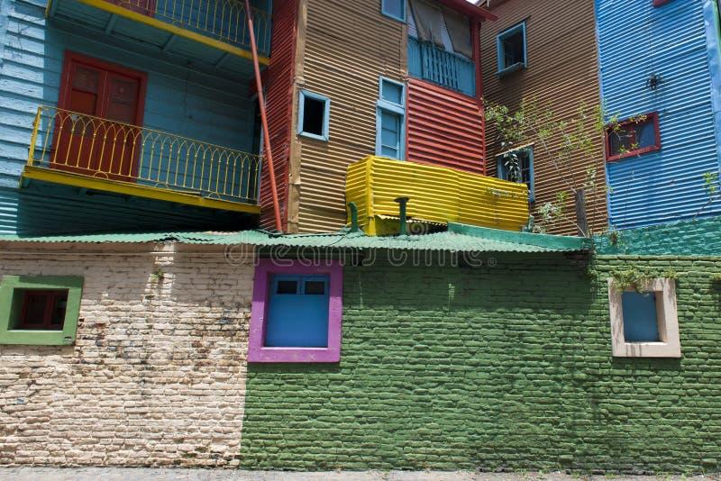 La Boca Buenos Aires. Colorful windows and walls in Caminito - La Boca, Buenos Aires stock photo