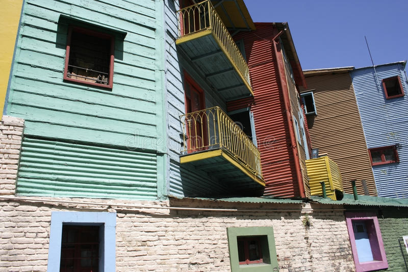 La Boca, Buenos Aires, Argentina. Buildings in La Boca, which is the oldest, most colorful, and most authentic neighborhood in the city of Buenos Aires stock photo