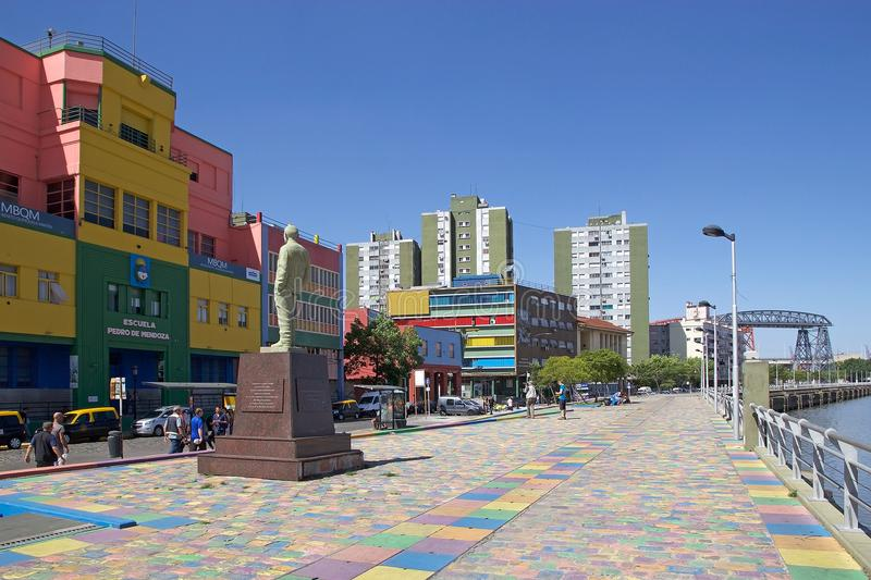La Boca in Buenos Aires, Argentina. La Boca is a neighbourhood, barrio of Argentine capital, in Buenos Aires and its sits at the mouth, boca in Spanish, of the stock images