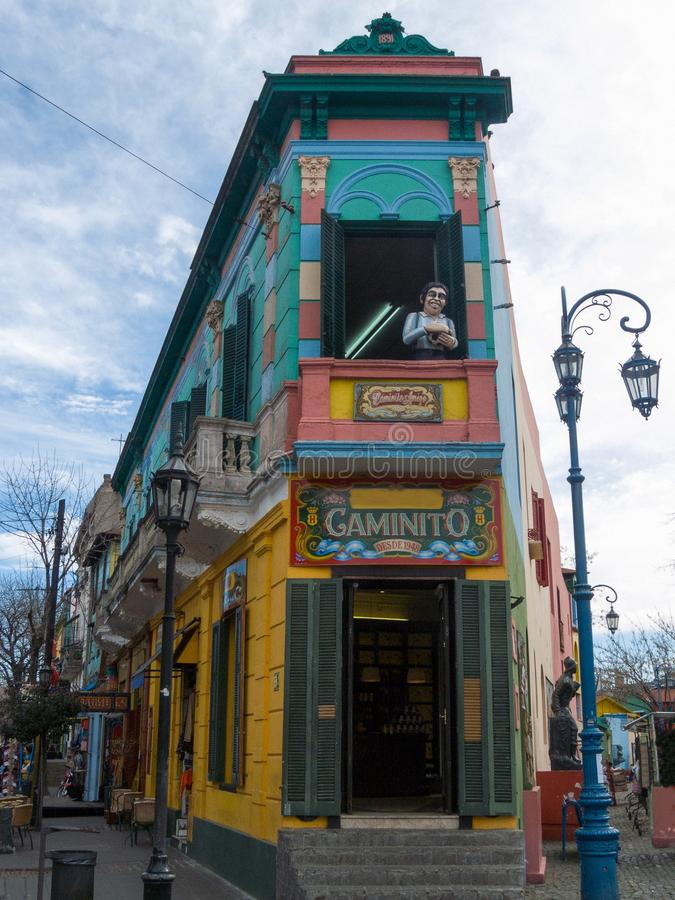 La Boca, Buenos Aires, Argentina. La Boca is a picturesque neighborhood of the Buenos Aires, Argentine capital royalty free stock photos