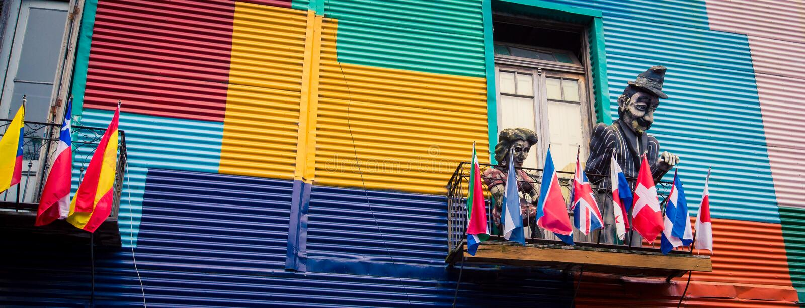 La boca buenos aires. La Boca is a barrio of the Argentine capital, Buenos Aires royalty free stock photography