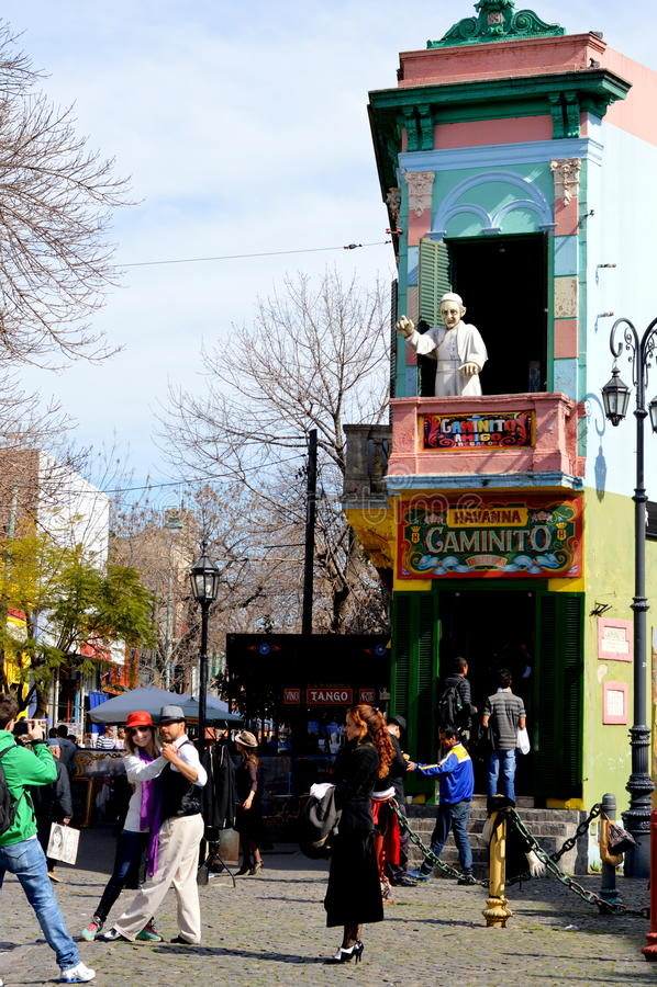 La Boca, Buenos Aires de Caminito photo stock