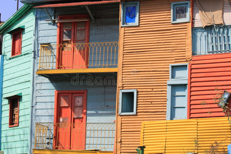 La Boca in Buenos Aires. La Boca - a neighborhood, or barrio of the Argentine capital, Buenos Aires. It retains a strong European flavour, with many of its early stock photos