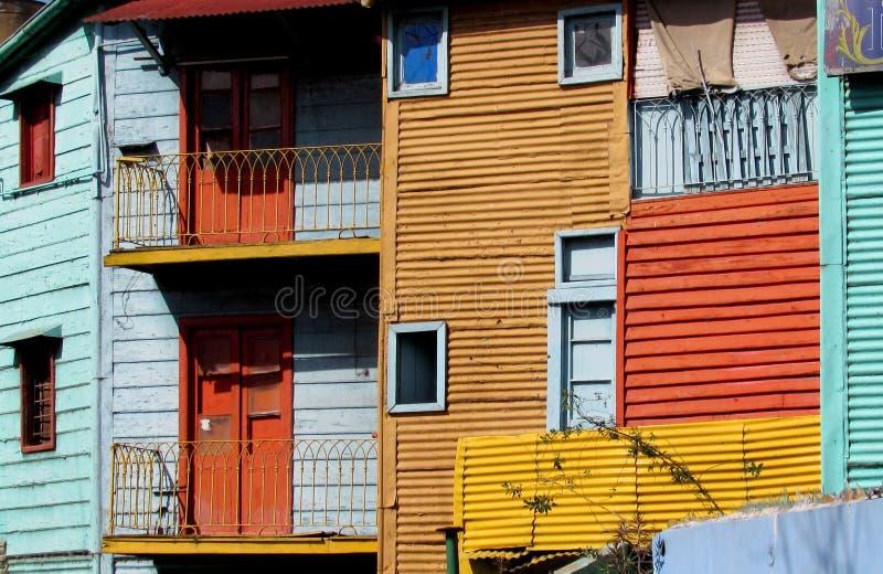 La Boca, Buenos Aires. Typical construction of La Boca in vivid colors stock photo
