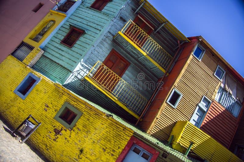 La Boca, Buenos Aires. View of the popular neighbourhood Caminito in La Boca (Buenos Aires - Argentina royalty free stock image