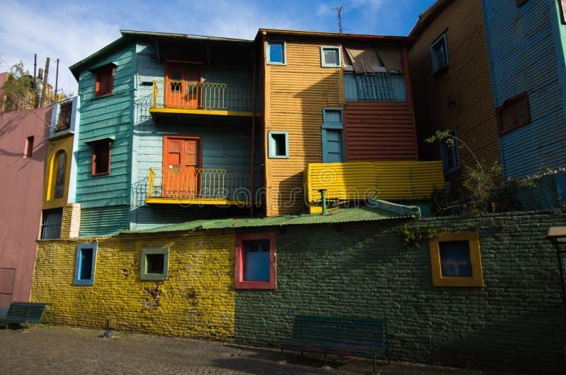 La boca, buenos ares, argentina. Precarious houses in La Boca , buenos Aires, Argentina stock photo