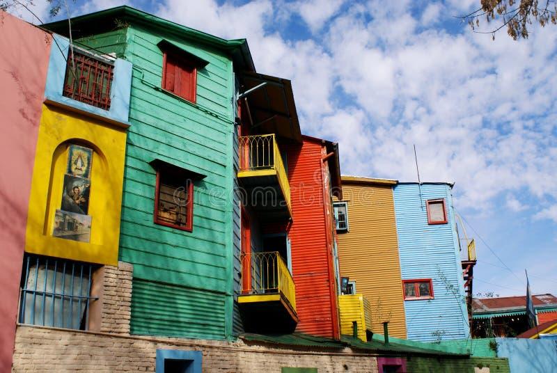 La Boca, Caminito. Homes in La Boca - Buenos Aires - Argentina royalty free stock photography