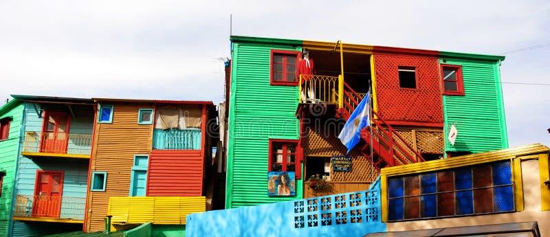 La Boca. Caminito. View of the popular neighbourhood Caminito in La Boca (Buenos Aires - Argentina royalty free stock photo