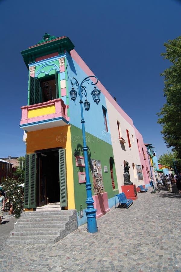 La Boca, Caminito. Caminito Street, in La Boca, Caminito is one of the most visited tourist attactions in Buenos Aires royalty free stock photo