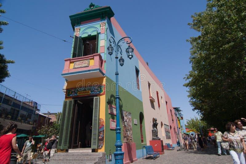 La Boca, Caminito. Caminito Street, in La Boca, Caminito is one of the most visited tourist attactions in Buenos Aires stock photos