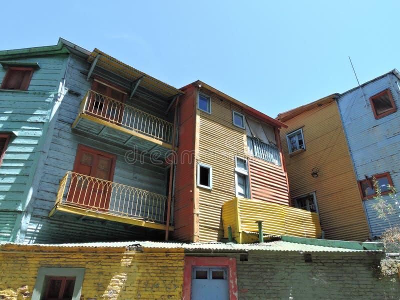 La Boca. Colored houses in the neighborhood La Boca in Buenos Aires, Argentina stock photo