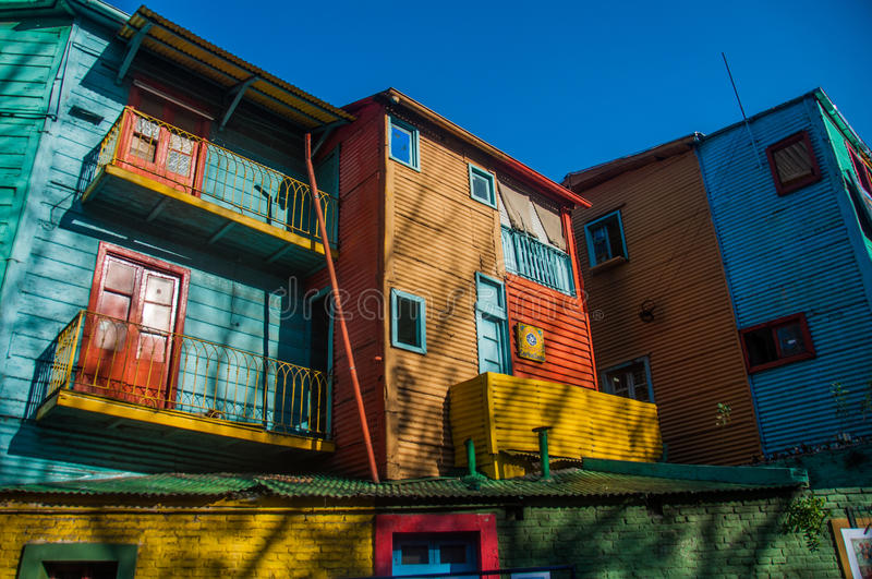 La Boca colorful houses neighborhood, Buenos Aires, Argentina.  royalty free stock photo