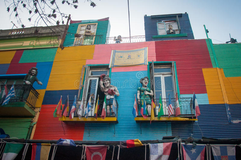 La Boca colorful houses neighborhood, Buenos Aires, Argentina royalty free stock photography