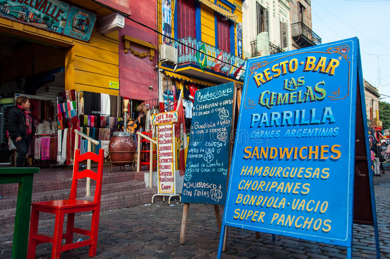 La Boca colorful neighborhood , Buenos Aires, Argentina stock photo