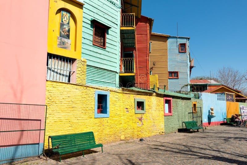 La Boca, colorful neighborhood, Buenos Aires Argentine. Colorful neighborhood La Boca, Buenos Aires Argentine stock photos