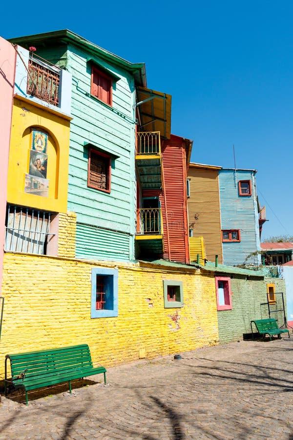La Boca, colorful neighborhood, Buenos Aires Argentine. Colorful neighborhood La Boca, Buenos Aires Argentine stock photo