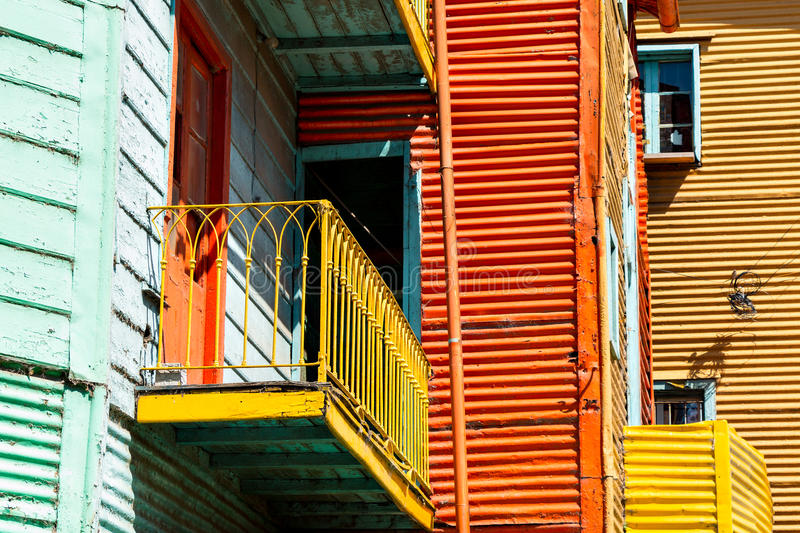 La Boca, colorful neighborhood, Buenos Aires Argentine. Historic colorful neighborhood La Boca, Buenos Aires Argentine royalty free stock photos