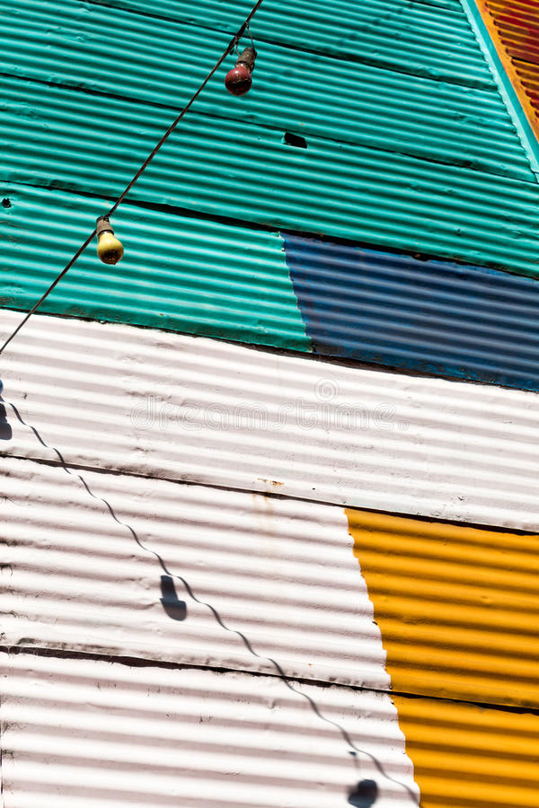 La Boca, colorful neighborhood, Buenos Aires Argentine. Historic colorful neighborhood La Boca, Buenos Aires Argentine royalty free stock image