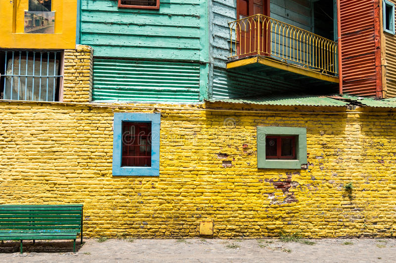 La Boca, colorful neighborhood, Buenos Aires Argentine. Historic colorful neighborhood La Boca, Buenos Aires Argentine stock image