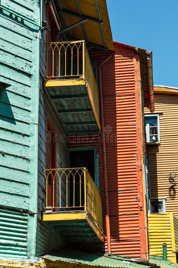 La Boca, colorful neighborhood, Buenos Aires Argentine. Historic colorful neighborhood La Boca, Buenos Aires Argentine royalty free stock images