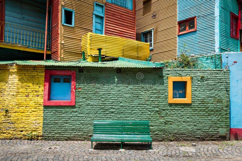 La Boca, colorful neighborhood, Buenos Aires Argentine. Colorful walls in the neighborhood La Boca, Buenos Aires Argentine royalty free stock photos