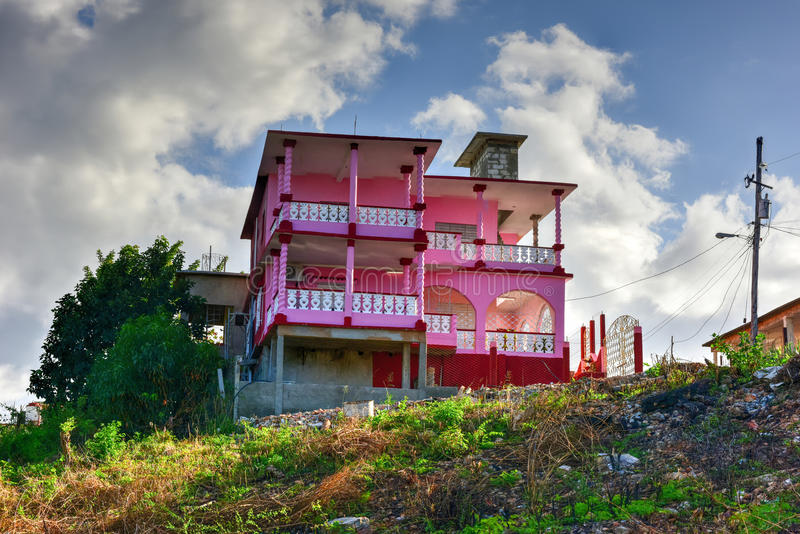 La Boca, Cuba. Colorful architecture in La Boca in the in the Sanctus Spiritus Region of Cuba stock photography
