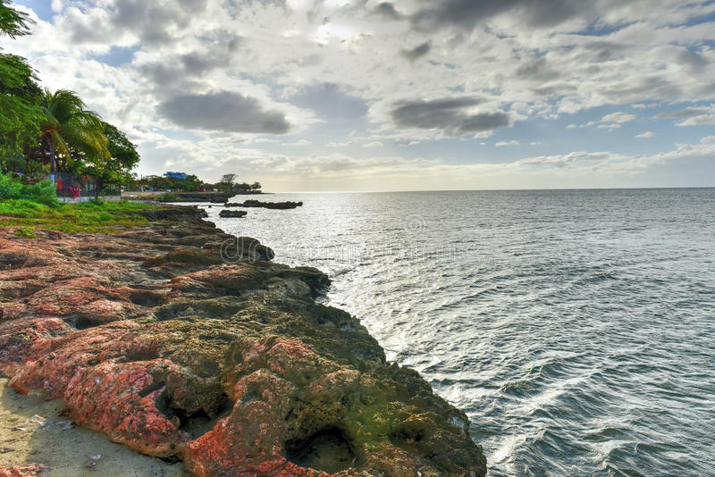 La Boca, Cuba. La Boca resort area in the in the Sanctus Spiritus Region of Cuba stock photos