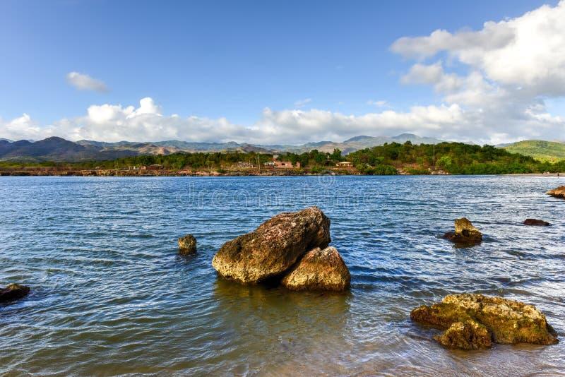 La Boca, Cuba. La Boca resort area in the in the Sanctus Spiritus Region of Cuba royalty free stock photo
