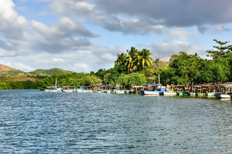 La Boca, Cuba. La Boca resort area in the in the Sanctus Spiritus Region of Cuba royalty free stock images