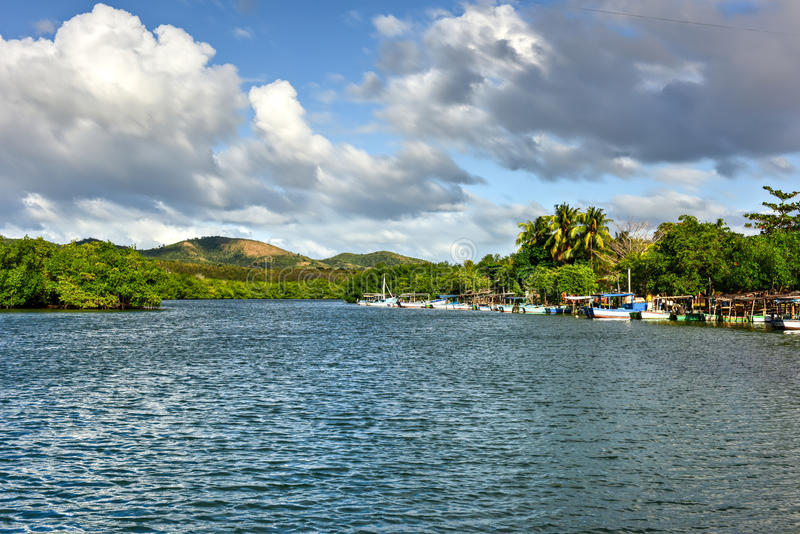 La Boca, Cuba. La Boca resort area in the in the Sanctus Spiritus Region of Cuba stock image