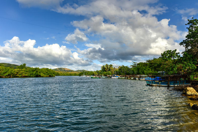 La Boca, Cuba. La Boca resort area in the in the Sanctus Spiritus Region of Cuba royalty free stock image